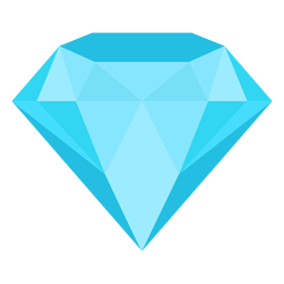 Gemstone diamond flat icon