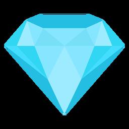 Ícone plana de diamante de gemstone