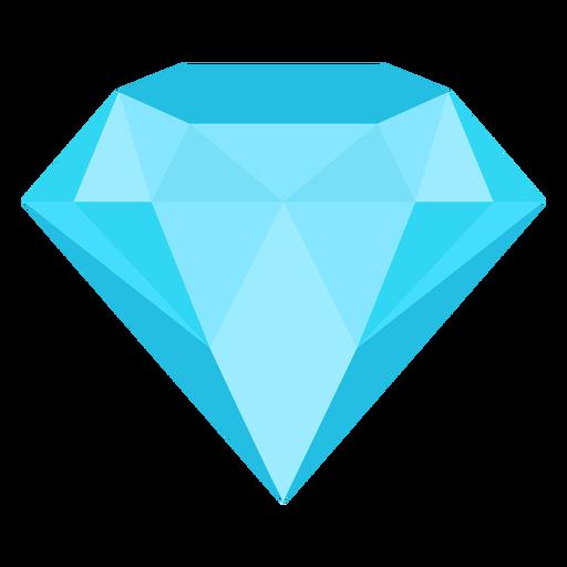 Gema diamante icono plana Transparent PNG