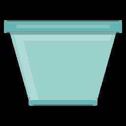Icono del tazón de vidrio