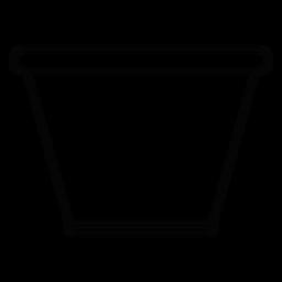 Tazón de vidrio icono de trazo