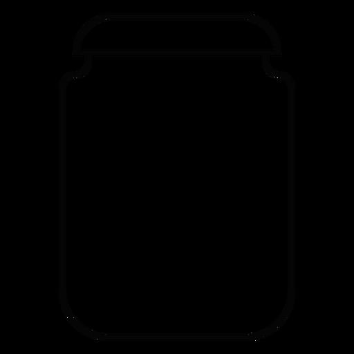 Icono de trazo vaso de vidrio Transparent PNG