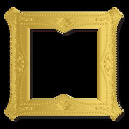 Quadro ornamento dourado