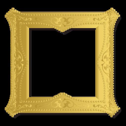 Golden ornament frame Transparent PNG