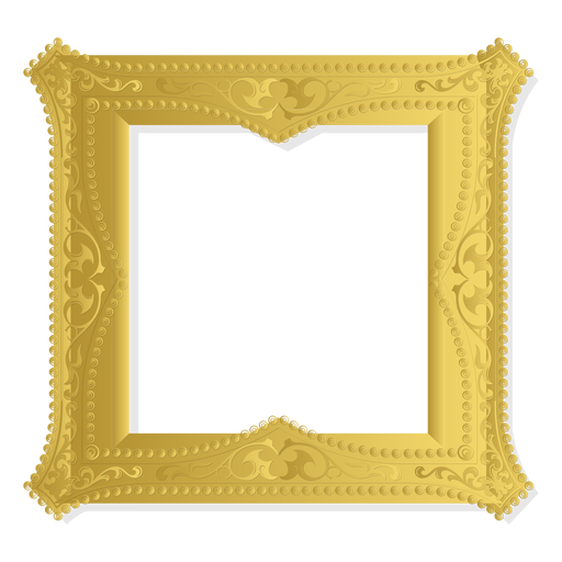 Marco de adorno de oro Transparent PNG