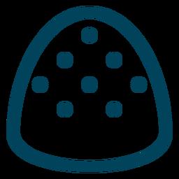 Icono de trazo de goma