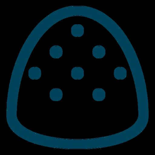 Gumdrop Schlaganfall-Symbol Transparent PNG