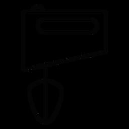 Mezclador de mano icono de trazo