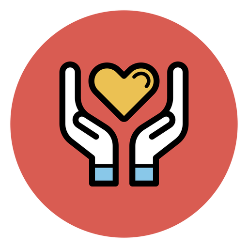 Hands holding heart icon Transparent PNG