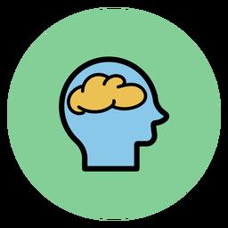 Cabeça, com, cérebro, ícone