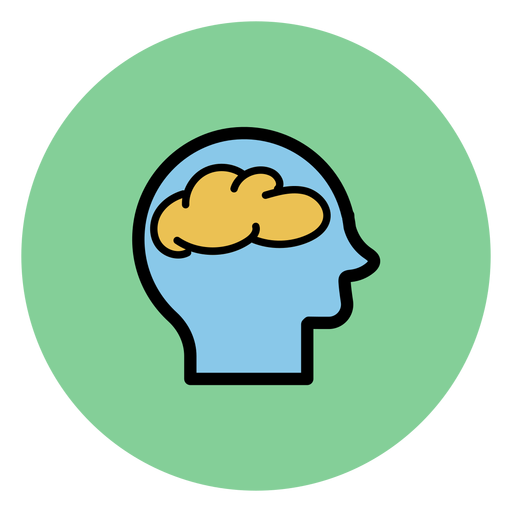 Head with brain icon Transparent PNG