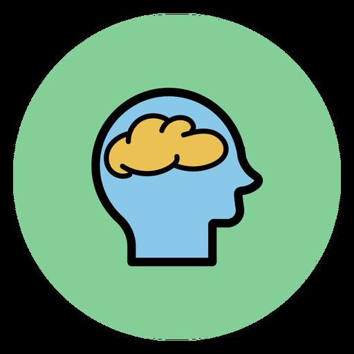 Kopf mit Gehirnsymbol Transparent PNG
