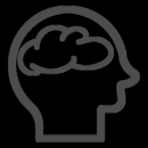 Kopf mit Gehirn-Schlaganfall-Symbol Transparent PNG