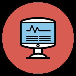 Icono de monitor de frecuencia cardiaca