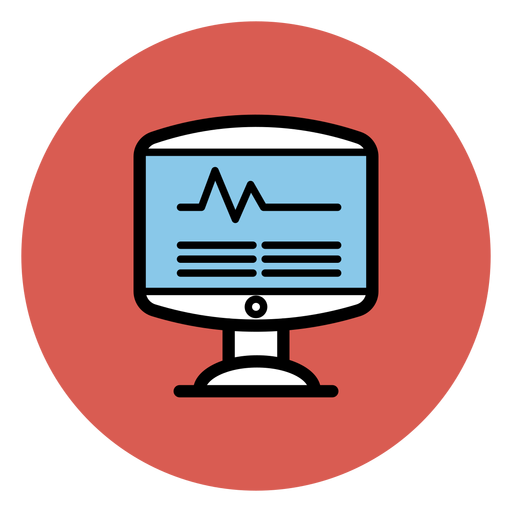 Ícone de monitor de freqüência cardíaca Transparent PNG