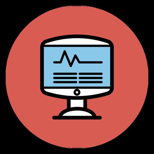 Icono de monitor de frecuencia cardiaca Transparent PNG