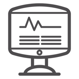 Heart rate monitor stroke icon
