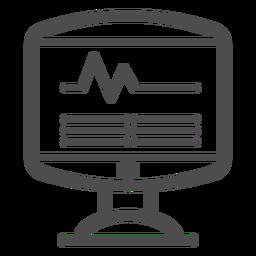 Icono de trazo del monitor de ritmo cardíaco