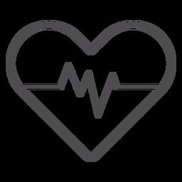 Ícone de traço de ritmo cardíaco