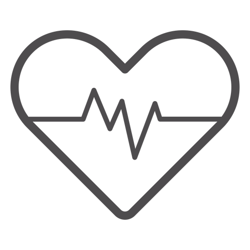 Heart rate stroke icon Transparent PNG