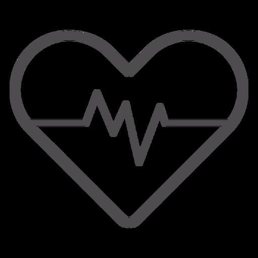 Icono de trazo de ritmo cardíaco Transparent PNG