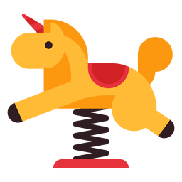 Horse spring rider icon