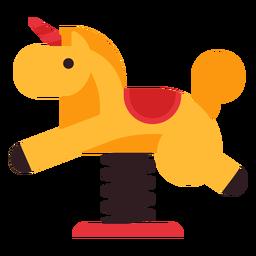 Icono de jinete de primavera de caballo