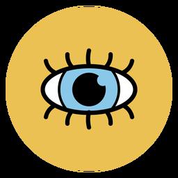 Iconos médicos del ojo humano icono
