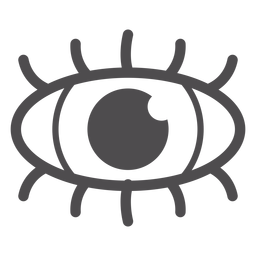 Human eye stroke icon