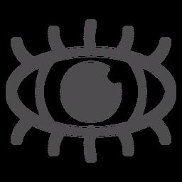 Icono de trazo del ojo humano