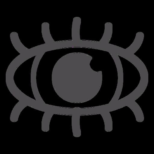 Icono de trazo del ojo humano - Descargar PNG/SVG transparente