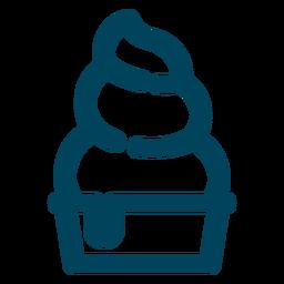 Eisbecher-Strich-Symbol