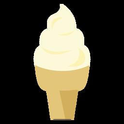 Icono de cupcake de cono de helado