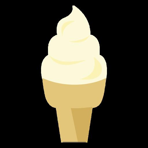 Ice cream cone cupcake icon