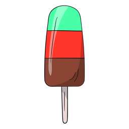 Ice cream on stick cartoon