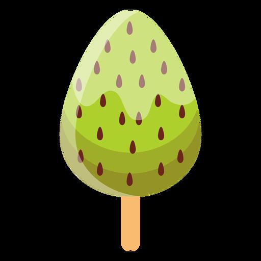 Ice cream on stick flat Transparent PNG