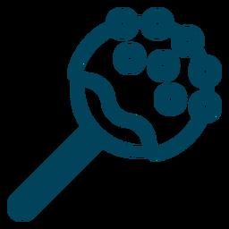 Jawbreaker Lutscher Strich Symbol