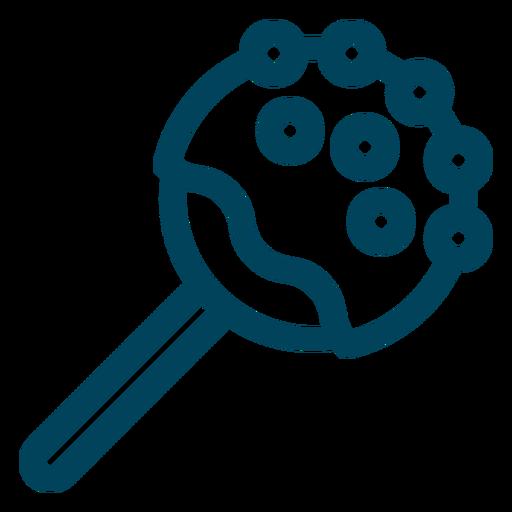 Jawbreaker lollipop stroke icon