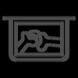 X-Strich-Symbol für Gelenk