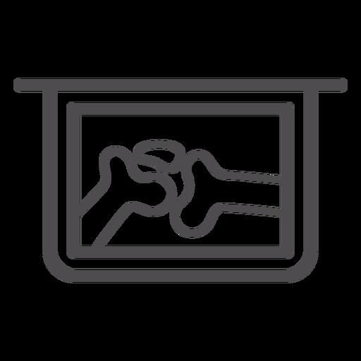 Icono de trazo de rayos x conjunto