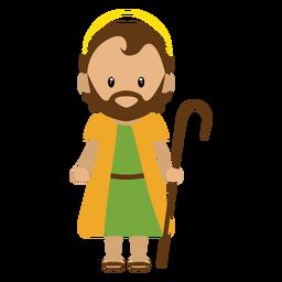 Ilustração de personagem de José