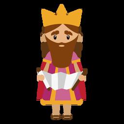 Ilustración de personaje de Rey David