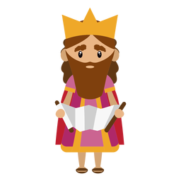 King david character illustration