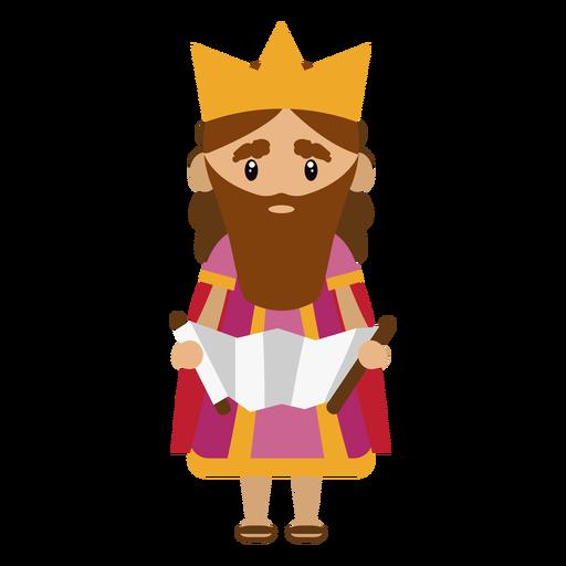 Ilustração de personagem rei david Transparent PNG