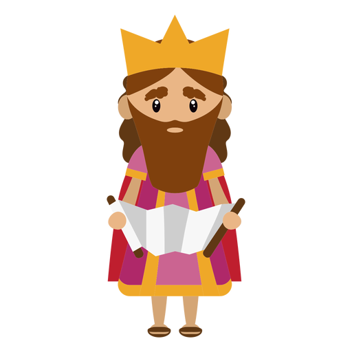 King david character illustration Transparent PNG