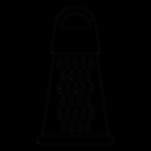 Ícone de traço de ralador de cozinha Transparent PNG