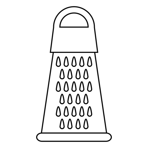 Kitchen grater stroke icon Transparent PNG