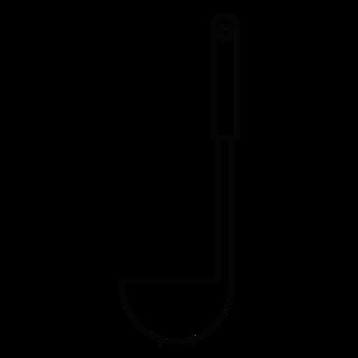 Icono de trazo de cocina laddle Transparent PNG
