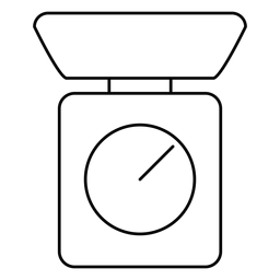 Icono de trazo de escala de cocina
