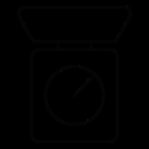 Icono de trazo de escala de cocina Transparent PNG